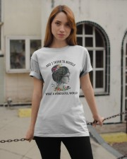 Myself What A Wonderful World Classic T-Shirt apparel-classic-tshirt-lifestyle-19