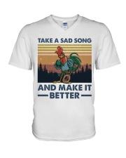 Take A Sad Song V-Neck T-Shirt thumbnail