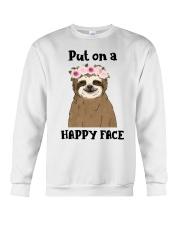 Put On A Happy Face Crewneck Sweatshirt thumbnail