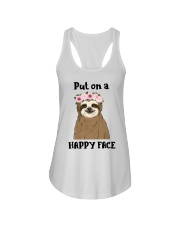 Put On A Happy Face Ladies Flowy Tank thumbnail