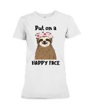 Put On A Happy Face Premium Fit Ladies Tee thumbnail