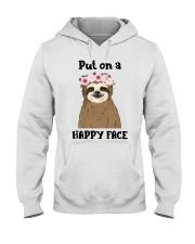 Put On A Happy Face Hooded Sweatshirt thumbnail