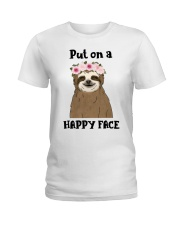 Put On A Happy Face Ladies T-Shirt thumbnail