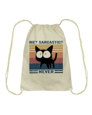 Sarcastic Never Drawstring Bag thumbnail