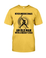 An Old Man With A Hockey Stick Classic T-Shirt front