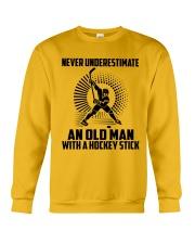 An Old Man With A Hockey Stick Crewneck Sweatshirt thumbnail