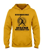 An Old Man With A Hockey Stick Hooded Sweatshirt thumbnail