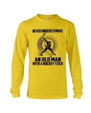 An Old Man With A Hockey Stick Long Sleeve Tee thumbnail