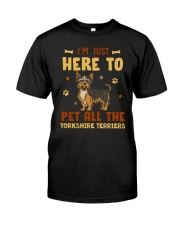 Yorkshire Terriers Classic T-Shirt front