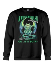 A Wild Cathulhu Appears Crewneck Sweatshirt thumbnail