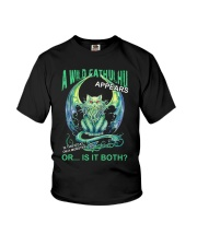 A Wild Cathulhu Appears Youth T-Shirt thumbnail
