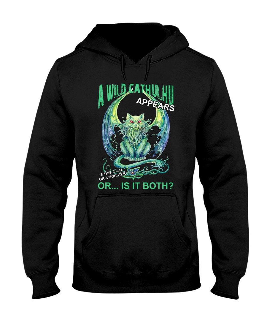 A Wild Cathulhu Appears Hooded Sweatshirt