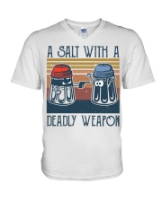 A Salt With A Deadly Weapon V-Neck T-Shirt thumbnail