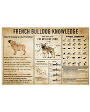 French BullDog Knowledge 17x11 Poster front
