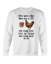 Coffe And Chickens Crewneck Sweatshirt thumbnail