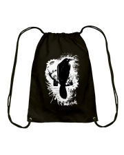 Black Bird Drawstring Bag thumbnail
