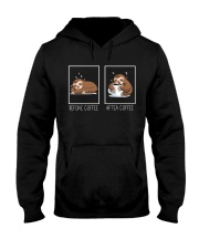 Before And After Coffee Hooded Sweatshirt front