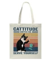 Cattitude Coffee Co Tote Bag thumbnail