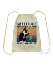 Cattitude Coffee Co Drawstring Bag thumbnail