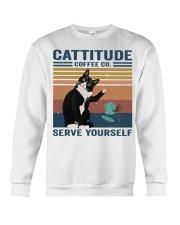 Cattitude Coffee Co Crewneck Sweatshirt thumbnail