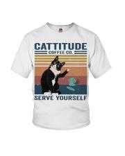 Cattitude Coffee Co Youth T-Shirt thumbnail