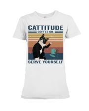 Cattitude Coffee Co Premium Fit Ladies Tee thumbnail