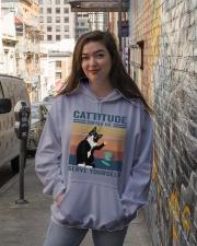 Cattitude Coffee Co Hooded Sweatshirt lifestyle-unisex-hoodie-front-1