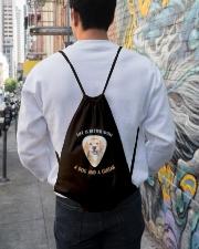 Life Is Better Drawstring Bag lifestyle-drawstringbag-front-1