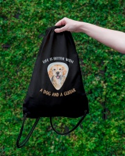 Life Is Better Drawstring Bag lifestyle-drawstringbag-front-3