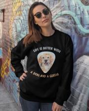 Life Is Better Crewneck Sweatshirt lifestyle-unisex-sweatshirt-front-3