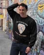 Life Is Better Crewneck Sweatshirt lifestyle-unisex-sweatshirt-front-4