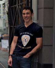 Life Is Better V-Neck T-Shirt lifestyle-mens-vneck-front-1