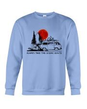 Always Take The Scenic Route Crewneck Sweatshirt thumbnail