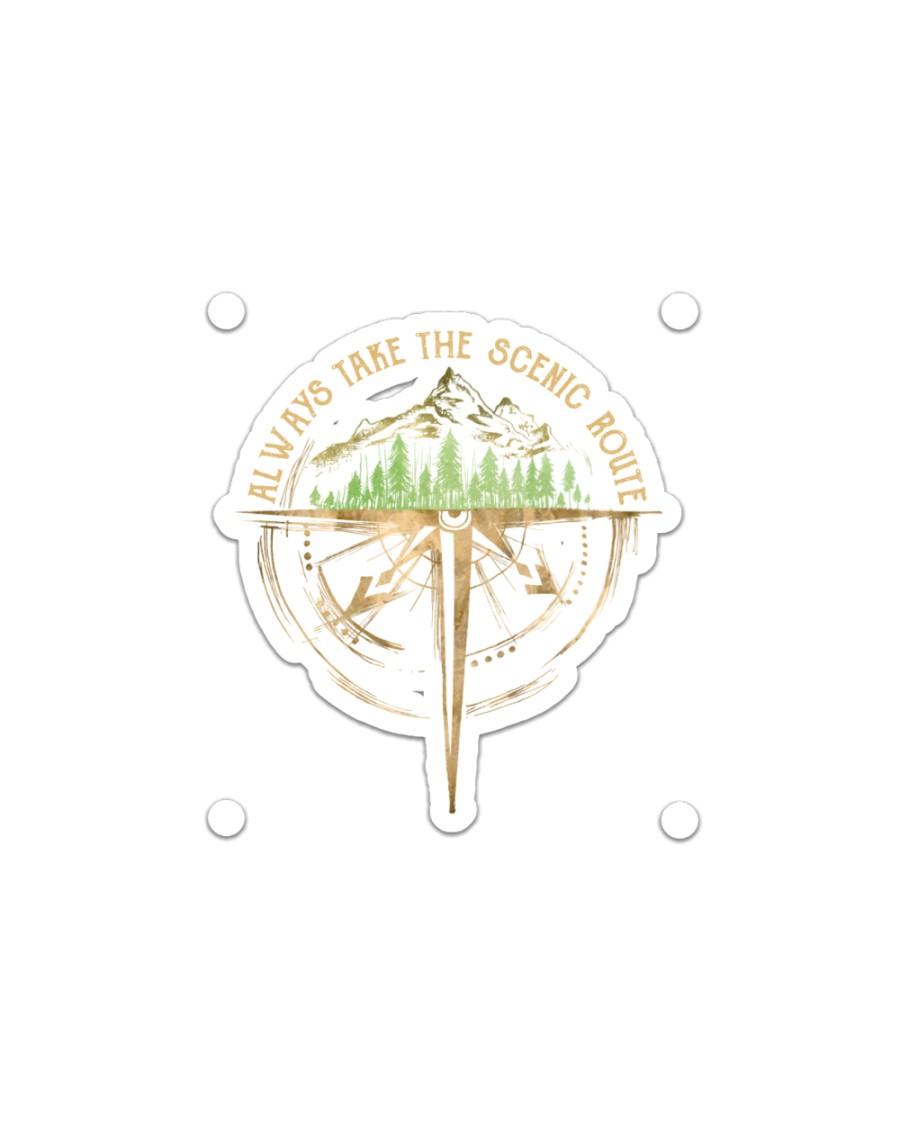 Always Take The Scenic Route Sticker - Single (Horizontal)