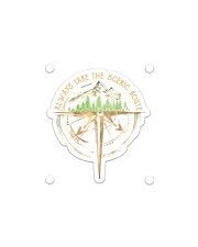 Always Take The Scenic Route Sticker - Single (Horizontal) front