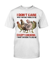 Except Chickens Classic T-Shirt front