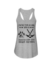 Hockey And Dogs Ladies Flowy Tank thumbnail