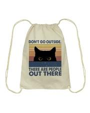 Don't Go Outside Drawstring Bag thumbnail