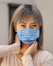 The Sound Of Silence Cloth face mask aos-face-mask-lifestyle-18