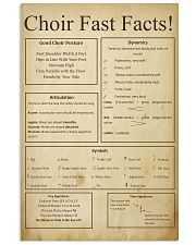 Choir Fast Facts 11x17 Poster front