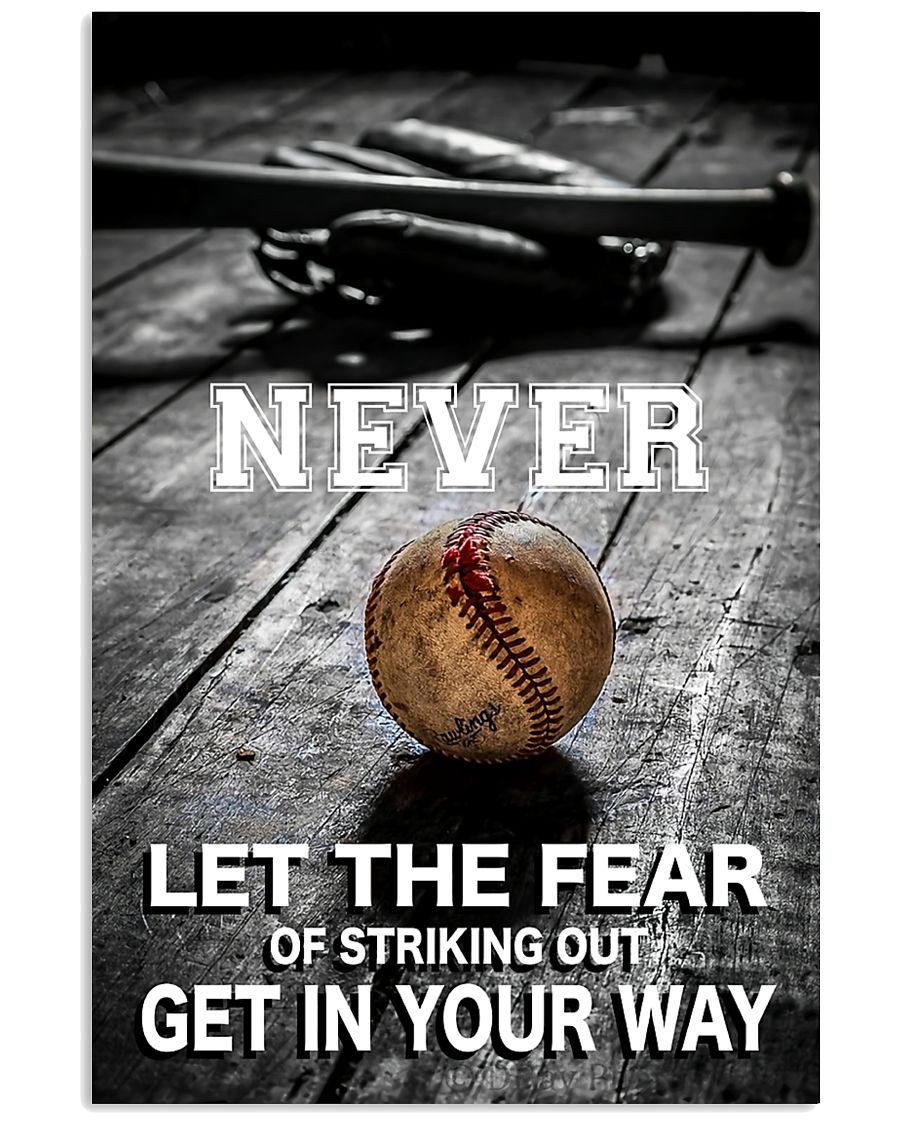 Never Let The Fear 11x17 Poster