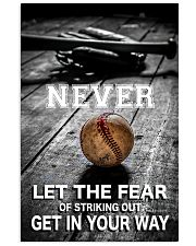 Never Let The Fear 11x17 Poster front