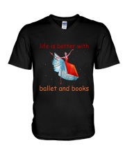 Life Is Better With Ballet V-Neck T-Shirt thumbnail