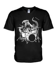 I Drummer V-Neck T-Shirt thumbnail