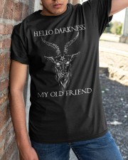 Hello Darkness My Old Friend Classic T-Shirt apparel-classic-tshirt-lifestyle-27