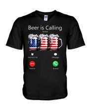 Beer Is Calling V-Neck T-Shirt thumbnail