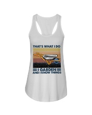 That's What I Do Ladies Flowy Tank tile