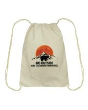 Go Outside Drawstring Bag thumbnail