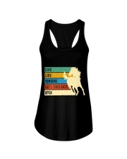 Live Like Someone Ladies Flowy Tank tile