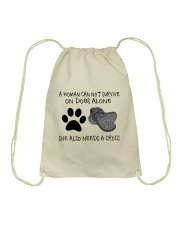 She Also Needs A Dogs Drawstring Bag thumbnail